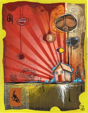 "14 x 12"" acrylic on illustration board"