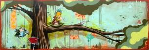 """24 x 96"""" acrylic on canvas"""