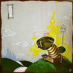 """24 x 24"""" acrylic on canvas"""