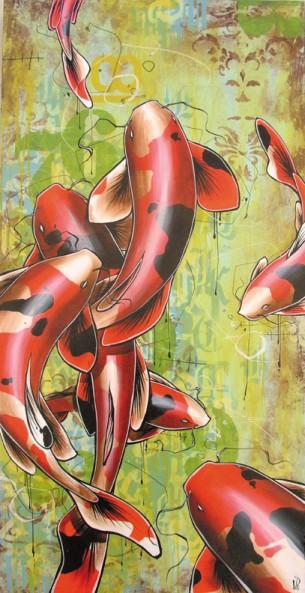 """48 x 24"""" acrylic on canvas"""
