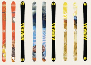 Armada Skis launched an artist/designer line several years back.  They offer some of the best parabolic skis in the industry and back it up with an amazing roster of talent. We sometimes license existing artwork but love to create one of kind graphics to fit this challenging format.