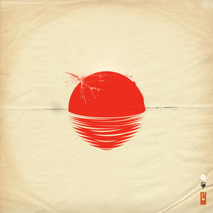 """Japan Relief Poster- @ Society6  *all proceeds will go to """"Peace Winds""""  -Graphic created for famed downtempo producer SARU. Multiple sizes available.  Blaine Fontana @ Society6"""