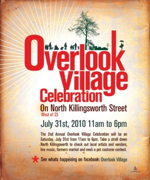 The Overlook Village Celebration in Portland Oregon.