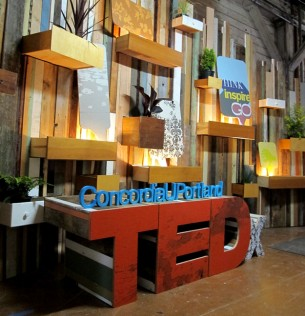 Photos of the custom TEDx ConcordiaUPortland.