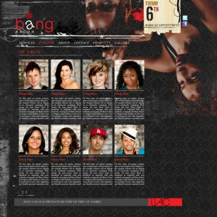 Bang Salon: website interface design