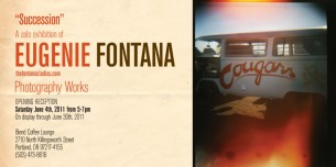 Photo Exhibition @ Blend Coffee Lounge in Portland Oregon.  Showcasing the photography of Eugenie Fontana...