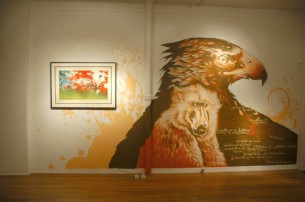 This mural was created for Blaine Fontana&#039;s Solo show at the Limited Addiction Gallery in Denver Colorado.  He spent over 4 days painting this,...