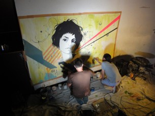 I will be painting in collaboration with Tokyo artist Ryuichi Ogino again, and for the first time with Hatos collective member, Rei Mochizuki. More info after the jump...