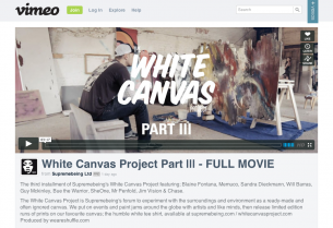 Supreme Being's famed White Canvas Project, featuring 11 international talents who posses wide range of skills, spent 4 days in the English Countryside painting and building on over 200 found objects, furniture, & materials. Please take a moment to enjoy this inspiring video.