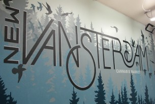 "Mural designed for Vancouver, WA dispensary ""New Vansterdam"". This was part of their July 11th 2015 grand reopening after..."