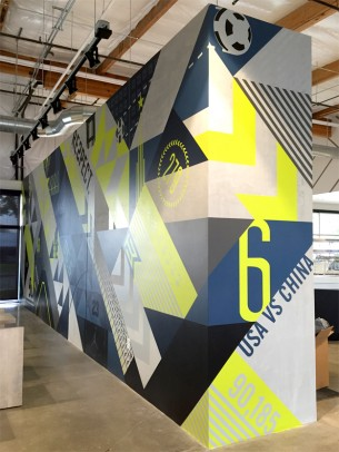 Our studios 2nd large scale mural commissioned by Nike for a site specific purpose. As Nike expands...